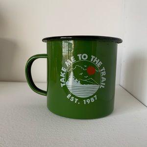 • Green Tin Camping Mug •